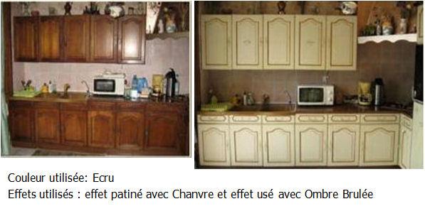 Pin cuisine avant apr s relooking cuisine artisan peintre - Relooking deco avant apres ...
